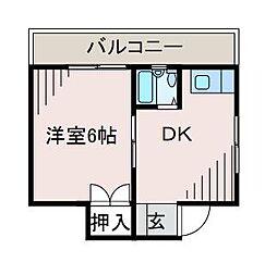粕谷ビル[2階]の間取り