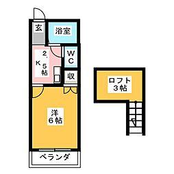 エピキュリアン須ヶ口[2階]の間取り