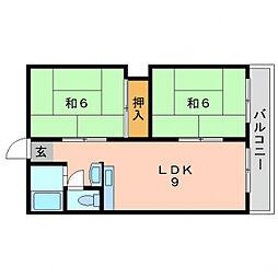 赤川ハイツ[2階]の間取り