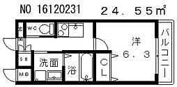 クローバーグランデ昭和町[10階]の間取り