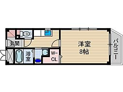 ガート・ロマーノ[3階]の間取り