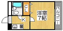 パシフィック浅香[5階]の間取り