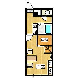 レオパレス幸II[2階]の間取り