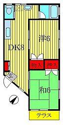 渡辺ハイツ[103号室]の間取り
