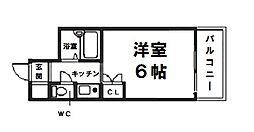 クラウンハイム豊里大橋[5階]の間取り