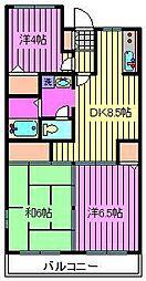 須賀第9マンション[2階]の間取り