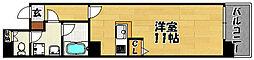 大阪府大阪市東淀川区東中島2丁目の賃貸マンションの間取り