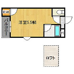 福岡県久留米市小森野1丁目の賃貸アパートの間取り