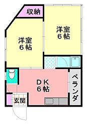 アイコート平野元町[3階]の間取り