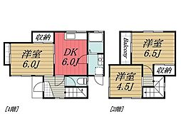 [一戸建] 千葉県四街道市和良比 の賃貸【/】の間取り