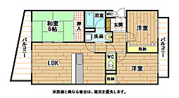 福岡県北九州市小倉南区下石田2丁目の賃貸アパートの間取り