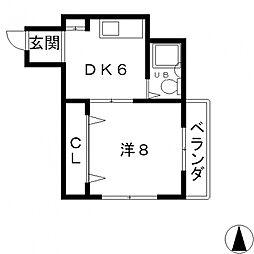 ジュネス菱屋西[302号室号室]の間取り