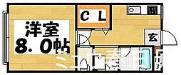 福岡県太宰府市宰府5丁目の賃貸マンションの間取り