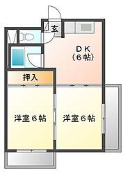 明治第2ビル[3階]の間取り