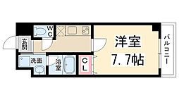 兵庫県伊丹市南本町5丁目の賃貸マンションの間取り