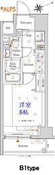 JR京浜東北・根岸線 桜木町駅 徒歩10分の賃貸マンション 2階1Kの間取り