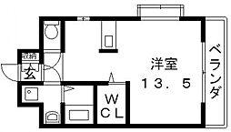 ロータリーマンション長田東[605号室号室]の間取り