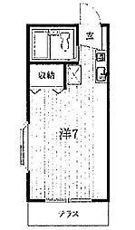 三山ハイツ[1階]の間取り