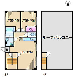 Rana田端[3A号室]の間取り