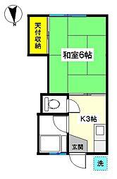 神奈川県秦野市曲松1丁目の賃貸アパートの間取り