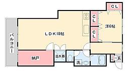 兵庫県神戸市灘区鶴甲5丁目の賃貸マンションの間取り