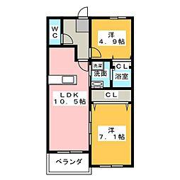 GARDEN昴[4階]の間取り