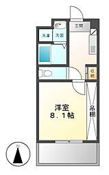アビタシオン名駅南[6階]の間取り