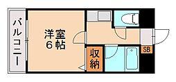 メルローズ松山[3階]の間取り