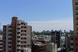 バルコニーからの眺望は良好です。南西側に向かって撮影。