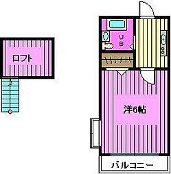 埼玉県さいたま市桜区西堀8丁目の賃貸アパートの間取り