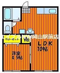 山田コーポN棟[2階]の間取り