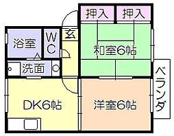 ベルコートMIKURA[2階]の間取り