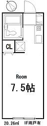 ユーコート東村山[207号室]の間取り