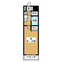 パラシオン京都[3階]の間取り