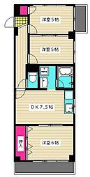東京都大田区西糀谷1丁目の賃貸マンションの間取り