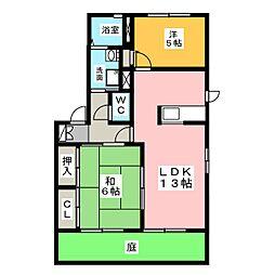 ソレイユm[1階]の間取り