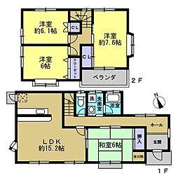 間取り図全室6帖以上、各部屋収納付の使いやすい4LDK。