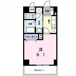 神奈川県厚木市妻田西1丁目の賃貸マンションの間取り