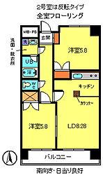 レジデンスタカフミIII[6階]の間取り