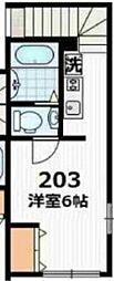 ディアマンテ椎名町[203号室号室]の間取り