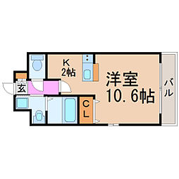 愛知県名古屋市瑞穂区北原町3丁目の賃貸マンションの間取り