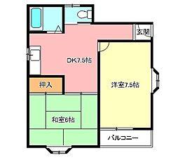山春マンション[2階]の間取り