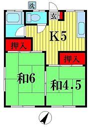 小島荘[2階]の間取り