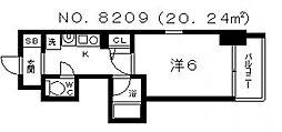 エステムコート大阪城南II[4階]の間取り