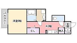 千葉県習志野市大久保2丁目の賃貸アパートの間取り