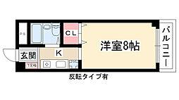 愛知県長久手市岩作三ヶ峯の賃貸マンションの間取り