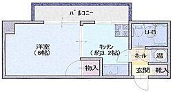 サンキビル[2階]の間取り