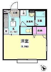 東京都品川区大井7丁目の賃貸アパートの間取り