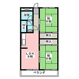 第3日置ビル[2階]の間取り