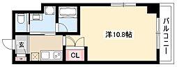 アールズタワー瑞穂運動場西駅前 5階1Kの間取り
